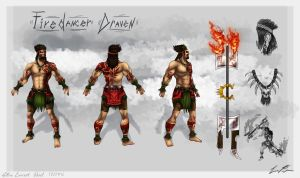 Firedancer Draven Concept Sheet 2 by Dargonite