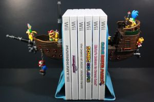 Koopa Kids Airship Bookends by kodykoala