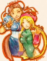 Chun-Li and Cammy by pu