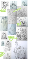 Pencilsketchdump by dragonrise
