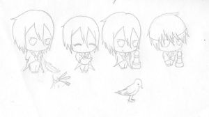 sebastien chibi's and a ciel by nightwing6497