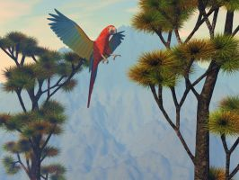 Macaw in paradise by DarkRiderDLMC