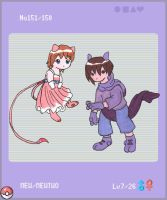 Pokedex Mew and Mewtwo by Porcubird