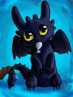 Toothless Likes Fish by Cloudghost
