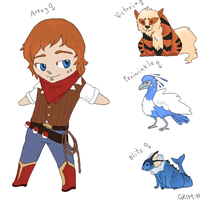 trainer Avery wants to battle_ by GrimoireDays