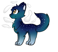 |hatched egg adopt!| Starry night sky by snowgraywhite