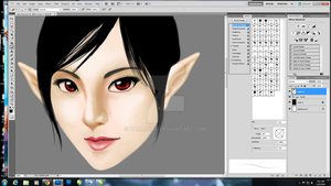 fairy face WIP by karlonne