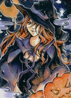 halloween ACEO by squeaky-feather