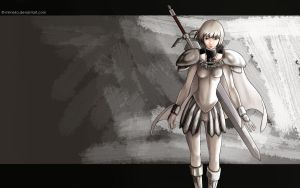 Claymore wallpaper: Clare by mimeko