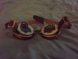 Homemade Steampunk Goggles by icantdraw777