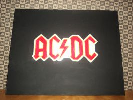 acdc painting by LilyLondon9