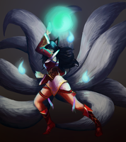 Ahri by Karoosa