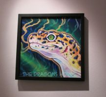 Leopard Gecko painting by DragonCid