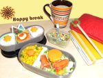 Happy break bento by Elisa-Erian