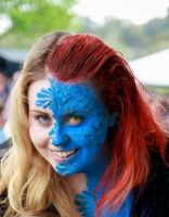 Mystique xmen cosplay by Blueberrystarbubbles