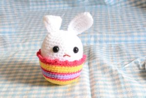 Crochet Easter bunny egg container Pattern by Rienei