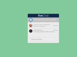 Live Chat - Flat UI Concept by TheRJones