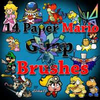 14 Paper Mario Gimp Brushes by lilchip85