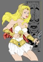 She-Ra by thincage + inker-guy by haydenyale