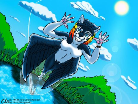 Giftart for Wolfbird by Windgrowler