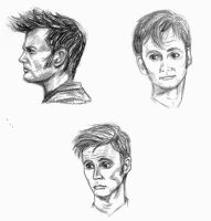 Tenth Doctor Sketches by akatsukicloud227