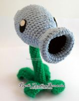Snow pea amigurumi (Plants vs Zombies) by Initta