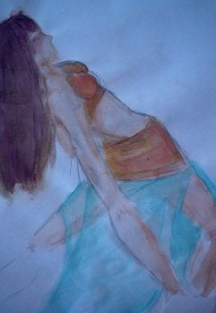 Belly Dance Finger painting by BlackChaos25
