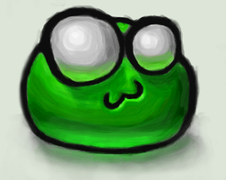 Green Emote Painting by MegaLoler
