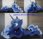 Giant (laying down) Princess Luna plush by agatrix