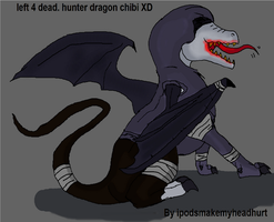 dragonized L4D hunter chibi XD by ipodsmakemyheadhurt