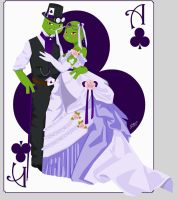 King and Queen of Clubs by Siren-Blue-Cat