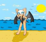 rouge at the beach by babyblisblink