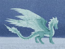 ice snow dragon by dakuness