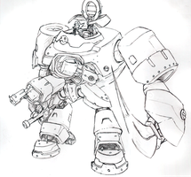 Kuhnair Mega Man Legend 3 Bonne Mecha Proposal by MarxForever