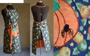 Halloween pumpkin apron by MissUmlaut