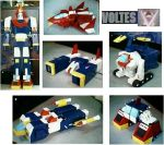 Cardboard model of Voltes V by damonyo