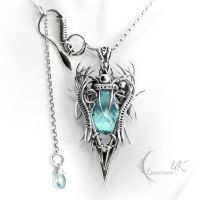 NAZHDIEL - silver and blue topaz. by LUNARIEEN