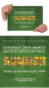 Flyer Flower Template - FREE by DOMDESIGN