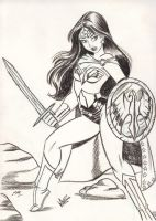 Warrior Wonder Woman Sketch by em-scribbles