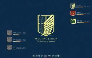 Current Desktop: Scouting Legion by milkkybunny