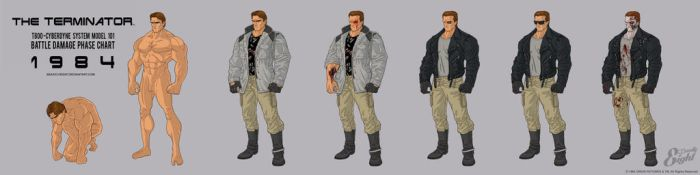 Terminator 1984 Battle Damage Phase Stages by BeastlyEight