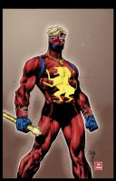 Captain Britain colors by Absalom7