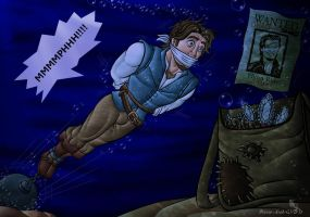 Flynn Rider drowning -version1- by Prince-Asad-GID