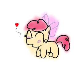 Kawaii Uguu Applebloom doodle by TanMansManTan