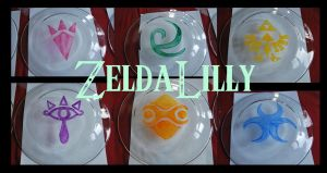 Legend of Zelda plates by zeldalilly