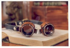 steampunk goggles by enguerrand