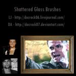 10 Shattered Glass Brushes by DocRock07