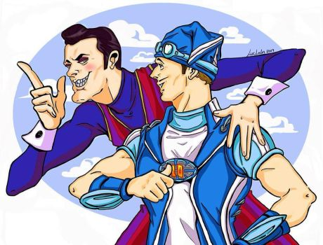 LazyTown: Robbie Rotten and Sportacus by LucLeon