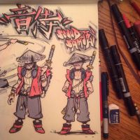 THEGREYNINJA VS (close-up of SOUND SAMURAI) by TheGreyNinja