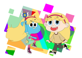 Art Trade:Gumball and Star by MannyG86
